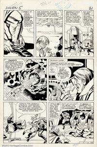 "Jack Kirby and Paul Reinman - Original Art for X-men #5, page 21 (Marvel, 1963). X-men art by Jack ""the King""..."