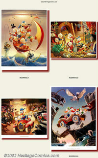 Carl Barks - Color Lithographs (Another Rainbow, 1990). This set of Carl Barks prints represents one of the few complete...