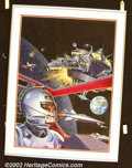 "Original Comic Art:Covers, Jim Laurier - Original Cover Art for 1984 Magazine (WarrenPublishing, 1980). The cover to the ""Star Trek"" issue of this fo..."