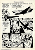 Original Comic Art:Panel Pages, Bob Powell - Original Art for All-New #13, page 41 (Harvey, 1944). Powell excels at drawing beautiful women and planes, the ...