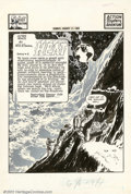 Original Comic Art:Splash Pages, Will Eisner and Wally Wood - Original Art for Spirit Section SplashPage (8/17/52). The collaboration between Eisner and Woo...