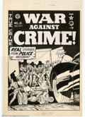 Original Comic Art:Covers, Johnny Craig - Original Cover Art for War Against Crime #8 (EC,1949). Appropriately titled, as the focus of this cover show...