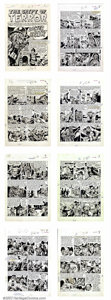 "Original Comic Art:Complete Story, Jack Davis - Original Art for Tales from the Crypt #33 ""Lower Berth"" - Complete 8-Page Story (EC, 1953). The legendary ""Orig..."