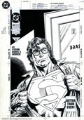 Original Comic Art:Covers, Kerry Gammill & Butch Guice - Original Cover Art to ActionComics #692 (DC, 1993). One of the most iconic images ofSuperman...
