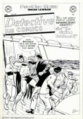 Original Comic Art:Miscellaneous, Win Mortimer - Cover Recreation for Detective Comics #170(undated). Featured here is a rare Mortimer recreation of a cover...