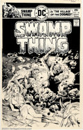 Original Comic Art:Covers, Nestor Redondo - Original Cover Art for Swamp Thing #18 (DC, 1975). A worthy successor to Bernie Wrightson on Swamp Thing...