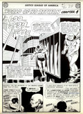 Original Comic Art:Splash Pages, Mike Sekowsky - Original Art for Justice League #1, page 24 (DC,1960). Wow! A splash from JLA #1. For all of those coll...