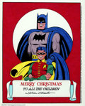 Original Comic Art:Miscellaneous, Dick Sprang - Batman and Robin Christmas Illustration (1993). Abeautiful drawing by the consummate Batman artist, here the ...