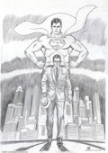 Original Comic Art:Covers, Curt Swan - Superman #201 Cover Recreation (DC, 1994). After JoeShuster, the artist most commonly associated with the Man o...