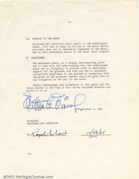 Walt Disney Signed Contract (1962). As the creator of Mickey Mouse, and the driving force behind one of the most importa...