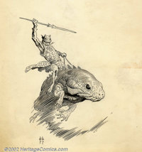 Frank Frazetta - Original Illustration (Canaveral Press, 1962). Even at this small size (the image area of this piece is...
