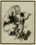 Original Comic Art:Miscellaneous, Frank Frazetta - Original Illustration of Tarzan and the Golden Lion (Canaveral Press, 1962). Frazetta reached his highest c...