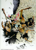 Original Comic Art:Miscellaneous, Frank Frazetta - Signed/Remarqued Print 35/50 (1973). This is afantastic offering on several levels. First, the subject has...