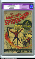Silver Age (1956-1969):Superhero, The Amazing Spider-Man #1 (Marvel, 1963). A landmark book that anycollector, young or old, would love to own! The front cov...