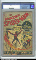 Silver Age (1956-1969):Superhero, The Amazing Spider-Man #1 (Marvel, 1963). The spectacular debutissue of the Web-Slinger's regular title, this features not ...