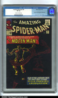 Silver Age (1956-1969):Superhero, The Amazing Spider-Man #28 (Marvel, 1965). One of the most popularSteve Ditko stories and covers with the origin and first ...