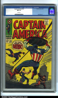 Captain America Group (Marvel, 1968-71). Lot of three exciting issues of Captain America, all in glorious NM 9.4 conditi...