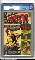Silver Age (1956-1969):Superhero, Daredevil #1 (Marvel, 1964). Debuting one of Marvel's moreunderrated characters, Daredevil #1 has always been an afford...