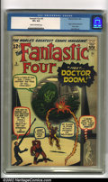Silver Age (1956-1969):Superhero, Fantastic Four #5 (Marvel, 1962). This fantastic issue has the first appearance and origin of Doctor Doom, the Fantastic Fo...