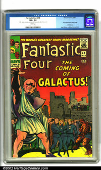 Fantastic Four #48 (Marvel, 1966). The landmark first appearance of the Silver Surfer and Galactus features top-notch ar...