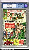 Silver Age (1956-1969):Superhero, Fantastic Four Annual #1 (Marvel, 1963). One of the best and earliest annuals of the Marvel Silver Age, this book has artwor...