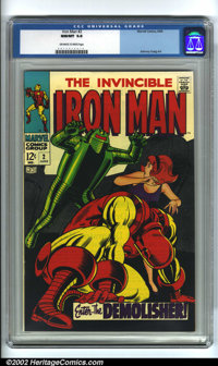 Iron Man #2 (Marvel, 1968). EC mainstay Johnny Craig contributed outstanding superhero work to early issues of Iron Man...