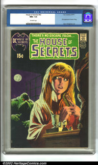 House of Secrets #92 (DC, 1971). Featuring the first appearance of Swamp Thing by Bernie Wrightson, this book quickly sh...