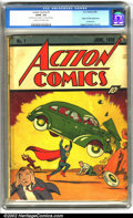 Golden Age (1938-1955):Superhero, Action Comics #1 (DC,1938). The number one comic book of all time, Action #1 represents the pinnacle of collecting, a la...