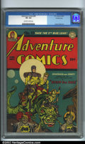 Golden Age (1938-1955):Superhero, Adventure Comics #93 Crowley pedigree (DC, 1944). A popular DC title, featuring a Simon and Kirby Sandman cover. This anthol...