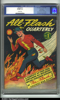 All-Flash #1 Recil Macon pedigree (DC, 1941). The Fastest Man Alive gets his own title in this Golden Age gem. Sporting...