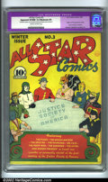 Golden Age (1938-1955):Superhero, All-Star Comics #3 (DC, 1940). This book features the very first appearance of a superhero team in comics, the legendary Jus...