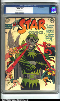 All-Star Comics #52 (DC, 1950). This scarce late issue of All-Star Comics pits the Justice Society against a giant alien...