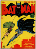 Golden Age (1938-1955):Superhero, Batman #1 (DC, 1940). One of the most desirable comics printedduring the Golden Age, Batman #1 has had so much exposure...