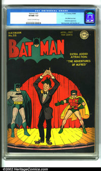 Batman #22 (DC,1944). An investment quality book, this issue features Alfred's first solo adventure and his first cover...