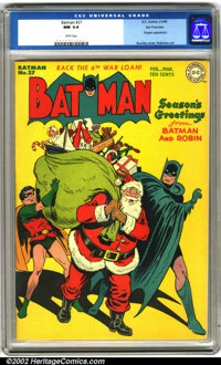 Batman #27 San Francisco pedigree (DC, 1945). This is a beautiful book, with a classic Jack Burnley Christmas cover. Thi...