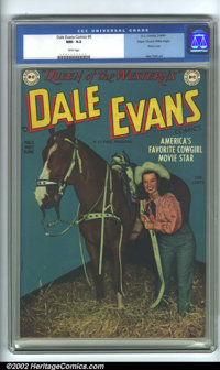 Dale Evans Comics #5 Mile High pedigree (DC, 1949). A glow-in-the-dark book with the richest blues you have ever seen! A...