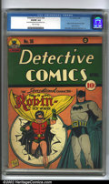 Golden Age (1938-1955):Superhero, Detective Comics #38 (DC, 1940). The sensational debut of Robin,the Boy Wonder, is the centerpiece of this legendary key is...