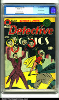Golden Age (1938-1955):Superhero, Detective Comics #62 (DC, 1942). An absolutely classic Joker cover by Jerry Robinson leads off this terrific issue with inte...