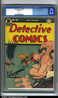 Detective Comics #88 Pennsylvania pedigree (DC, 1944). Being some of the most collectible titles in comics, Detective Co...