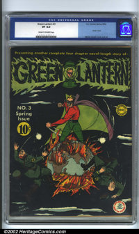 Green Lantern #3 (DC, 1942). Featuring a classic war cover by Green Lantern creator Martin Nodell, this issue contains a...