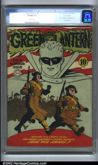 Green Lantern #4 San Francisco pedigree (DC, 1942). Green Lantern joins the Army! This issue features a patriotic cover...