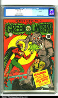 "Golden Age (1938-1955):Superhero, Green Lantern #7 Rockford pedigree (DC, 1943). A book-length adventure pits Green Lantern against the ""Wizard of Odds""! A te..."