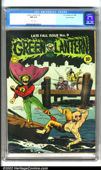 Green Lantern #9 San Francisco pedigree (DC, 1943). A Mayer/Moldoff combination cover, this issue hails from what many c...