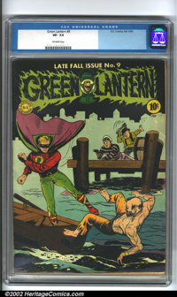 Green Lantern #9 (DC, 1943). Fantastic artwork by Mayer and Moldoff on the cover of this book. Nice higher-grade conditi...