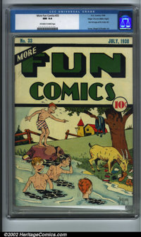 More Fun Comics #33 Mile High pedigree (DC, 1938). More Fun #1-51 have always proven an extremely difficult run to assem...