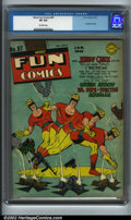 Golden Age (1938-1955):Superhero, More Fun Comics #87 (DC, 1943). Johnny Quick made only three cover appearances during his stint in More Fun before movin...