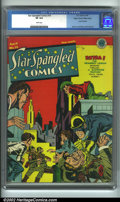 Golden Age (1938-1955):Superhero, Star Spangled Comics #19 Mile High pedigree (DC, 1943). Done in true Simon/Kirby style, The Newsboy Legion are at it again, ...