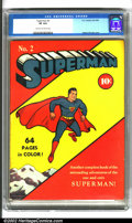 Golden Age (1938-1955):Superhero, Superman #2 (DC, 1939). After a phenomenally successful debut in Action Comics, the powers-that-be at DC quickly afford...