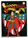 Golden Age (1938-1955):Superhero, Superman #14 (DC, 1942). This issue is a perennial favorite amongcollectors. In and of itself, it has one of the very fines...