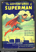 Memorabilia:Comic-Related, Vintage Superman Group (Various Publishers,1942, 1953). Published in 1942, George Lowther wrote the first book with informat... (Total: 2 Item)